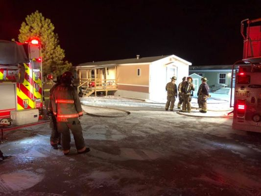 Fire at Black Hawk area home
