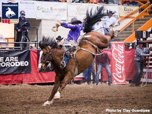 Shorty Garrett is walking tall after shattering the Rodeo Rapid City (S.D.) saddle bronc riding record Feb. 8 to win the iconic rodeo for the second time in his five years of ProRodeo competition.
