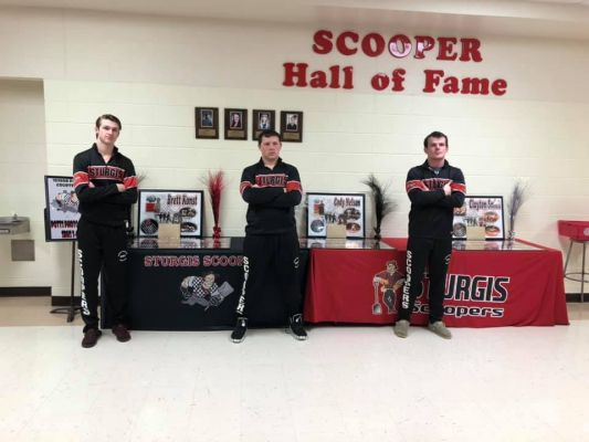 Scooper Seniors Brett Konst, Cody Nelson and Clayton Smith