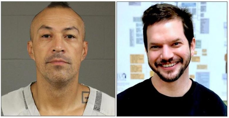 Alton Red Bear, left, is accused of fatally shooting Tracy Saboe, right,  in a case of mistaken identity.