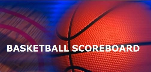 Basketball scoreboard, January 25