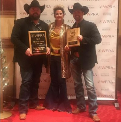 Accepting the awards are Clay Cross, Range Days Rodeo Chairman; Tif Robertson, Central States Fair Inc. Board Member; and Travis Bechen, Range Days Rodeo committee member.