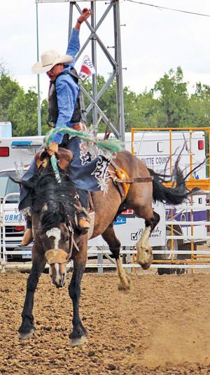 Cash Wilson, Wall, SD, pictured here at the 2017 South Dakota High School Rodeo Association Finals, is among the contestants competing in the CINCH Varsity Cup.