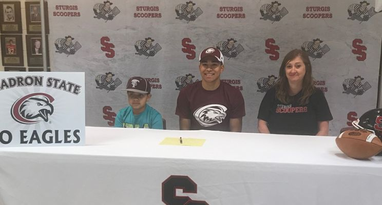 Cedrick Stabbers signs to play football at Chadron State next year