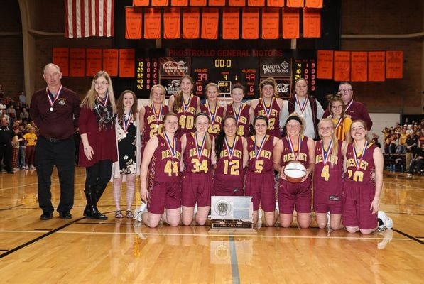 DeSmet won the Girls Class B State Basketball Championship Saturday night with a 49-39 win over Ethan.