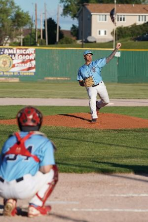 Sturgis Post 33 pitcher John Fischer gave up three hits and one run to get the win for the Titans against Spearfish Post 164.