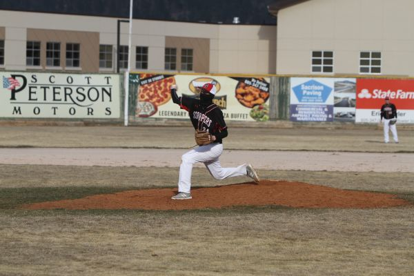 Josh West pitching for Sturgis Thursday night.