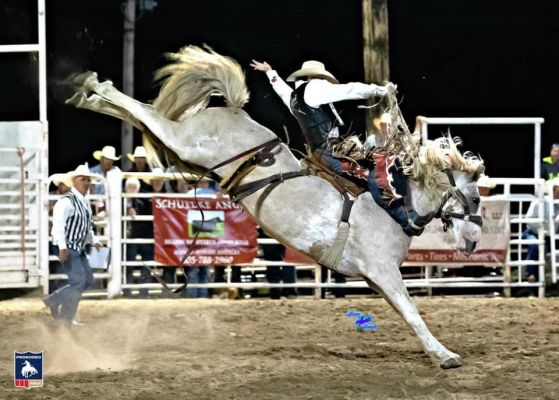 Lefty Holman, Visalia, CA, won the prestgious Faith Match Bronc Ride earlier this month aboard 13-year-old South Dakota bred Bartender of Dakota Rodeo.The Faith, SD event is the last stop on the PRCA Xtreme Bronc Tour. Both Holman and