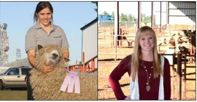 Dr. Kelly Froehlich, (right) and Jaelyn Whaley, the next generation of sheep specialists in South Dakota.
