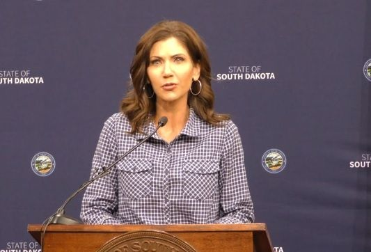 Governor Noem at her press conference Wednesday urged South Dakotans to step back today and
