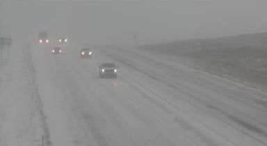 Travel is treacherous in Rapid City Thursday as a winter like storm moves through the Great Plains.