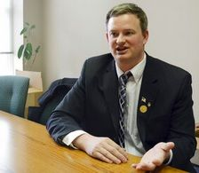 In this Feb. 23, 2014, file photo Jason Ravnsborg speaks in Sioux Falls, S.D. South Dakota Attorney General Jason Ravnsborg reported hitting a deer with his car on Saturday night but actually killed a pedestrian whose body was not found until the next day