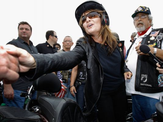 Sarah Palin has participated in a number of motorcycle rides around the country.  Her latest appearance will be on the Legend's Ride set for August 6, 2018, a major charitable fundraiser for the Buffalo Chip.