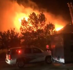 Fire ravages a Sturgis home Friday night.