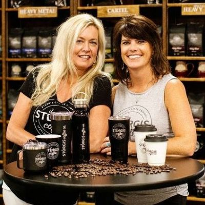 Anna Rowett of Sturgis Coffee Company and designer of the new look Julie Olson.