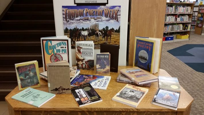 The Sturgis Public Library has created a display of cowboy poetry and western titles available at the library for check out.
