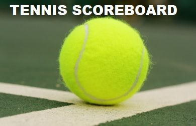 Saturday, August 17, Tennis Scoreboard