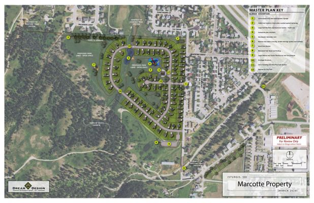 Master Plan for development of the Marcotte Property