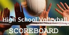 Volleyball Scoreboard for October 23