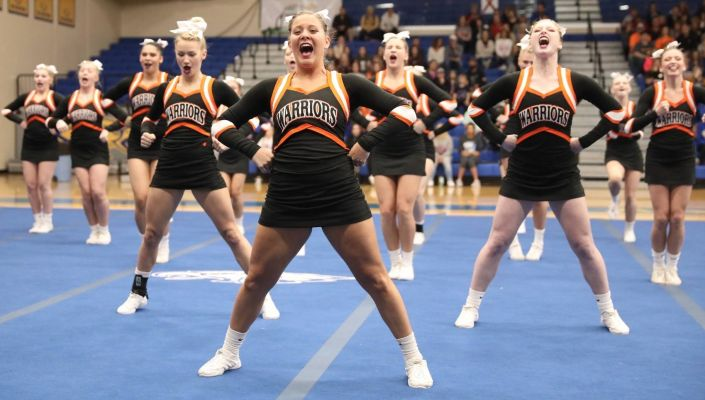 Sioux Falls Washington won the Class AA State Cheer and Dance titles Saturday.